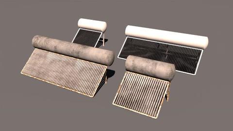 Solar Water Heater 3D Model