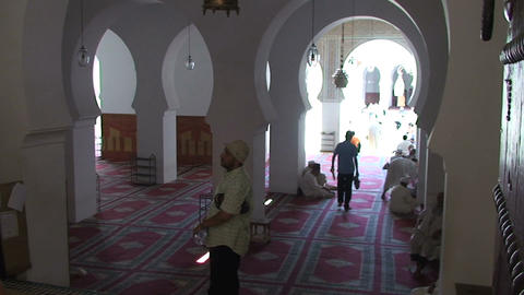 Mosque inside with people Footage