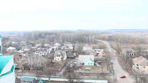 Panorama Of Chernihiv Town From Above stock footage