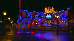 Funfair Caousel, Prater, Vienna stock footage