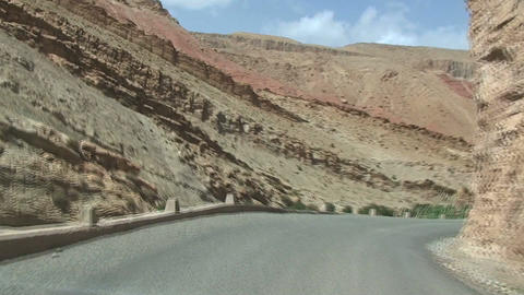 Driving throug the Dades Valley Footage