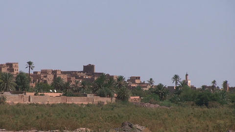 View over Ouarzazate, Draa Valley Footage