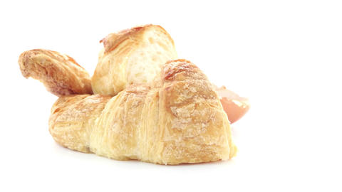 Croissant And Egg stock footage