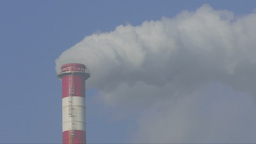 Air pollution. Smoke from coal power plant Footage