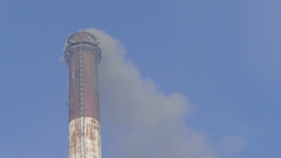 Air pollution. Smoke from coal power plant. Co2, So2 emission Footage