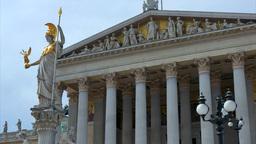 Parliament Building, Vienna, Austria, Europe stock footage