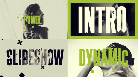 Fast Intro -Dynamic Slideshow After Effects Template