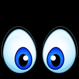 Anime Cartoon Eyes stock footage