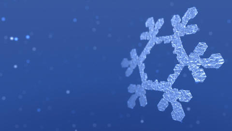 Snowflake And Flurries stock footage
