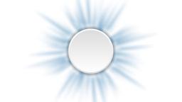 Blue rays animated background with blank circle Animation