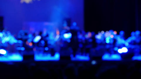 Classical Music Performance In The Concert Hall , Defocus Background stock footage