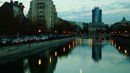 BUCHAREST, ROMANIA - November 23: Traffic Over Splaiul Independentei On November stock footage