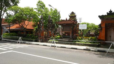 Balinese temple, Pura Agung, Desa Adat Legian, parallax shot Footage