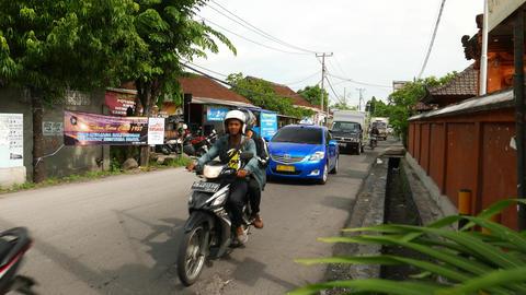Walk On Jalan Gunung Salak, At Cross With Teuku Umar Barat, Busy Street stock footage
