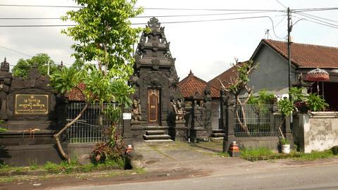 Balinese temple, Pura Dalem Pejarakan Ulun Lencana, parallax shot Footage