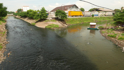 Small hand operated cable punt, cross river transportation Live Action