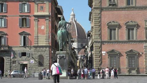 Statue of Cosimo, The Medici Footage