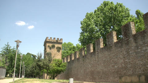 City wall of Porta San Frediano Footage