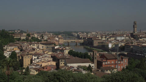 Skyline Florence from Piazalle Michelangelo Footage