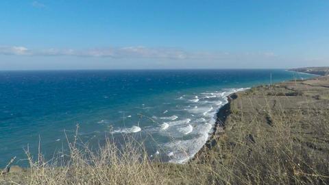 wild coast of santorini Footage