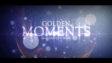 GOLDEN MOMENTS After Effects Template