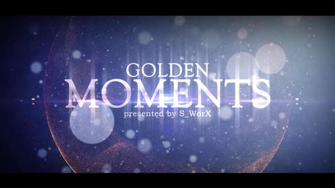 GOLDEN MOMENTS After Effectsテンプレート