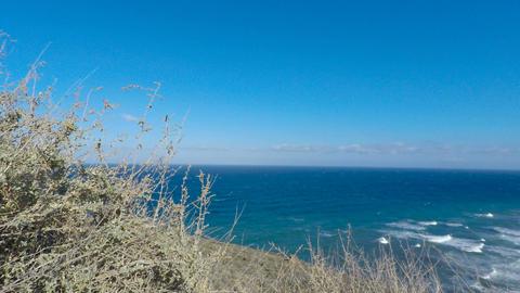 wild coast of santorini Stock Video Footage