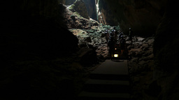 Cavers discover vault opening in dark grotto, bat sounds Footage