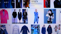 Searching 'coats' On Internet stock footage