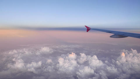 Delicate Colours Of Evening Sky And Clouds From The Top Point stock footage