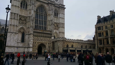 Westminster Abbey Towers Footage