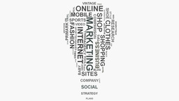 Light Bulb Brand marketing strategies online business word cloud text typography GIF 動畫