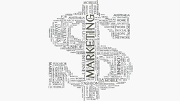 Dollar sign Brand marketing strategies word cloud text typography Footage