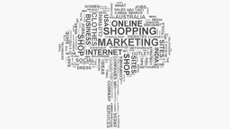 Tree Brand marketing strategies online business word cloud text typography Footage