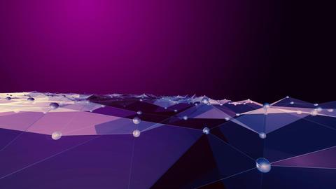 polygon wave loop 2 4 K Animation