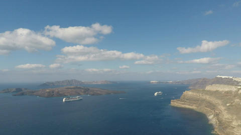 coast of santorini island Footage