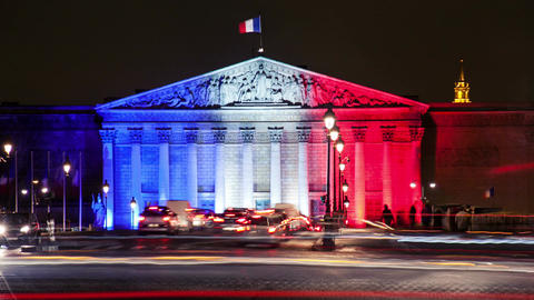 A Timelapse View on France Parliament in Paris Footage