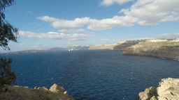 coast of santorini island Footage