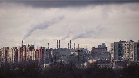 Smoke From Chimneys stock footage
