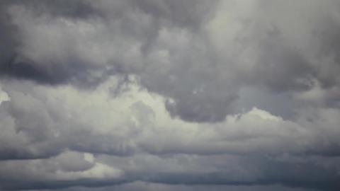 Cloud grey sky before heavy rain. Panorama Footage