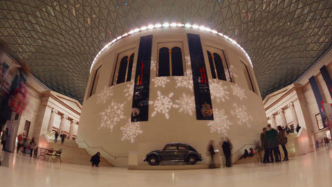 British Museum Night Timelapse Footage