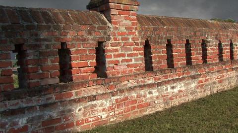 old brick wall Footage
