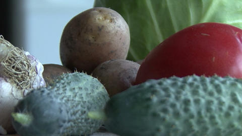 Set Of Vegetables For Healthy Diet Footage