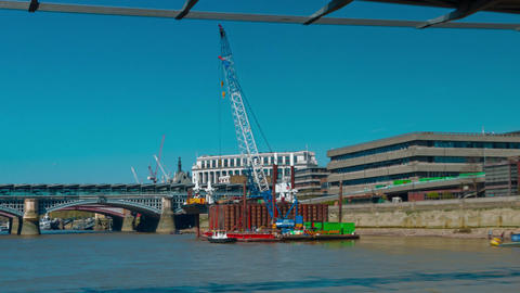Nonstop POV Boat Trip Hyperlapse in the River Thames, London, UK Footage