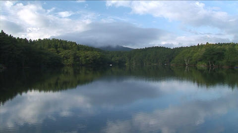 Beautiful quiet lake Stock Video Footage
