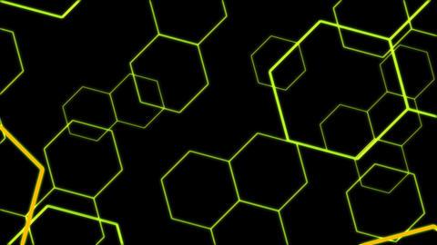 Hexagon 2 Ad 1 HD Stock Video Footage