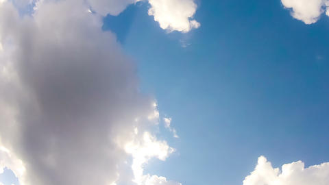 White Clouds on the Blue Sky Stock Video Footage