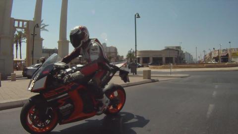motorbike motorcycle motorcycles rider riding biker... Stock Video Footage