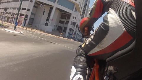motorbike motorcycle motorcycles rider riding biker... Stock Video Footage