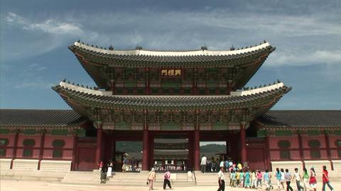 Gyeongbokgung Palace Stock Video Footage